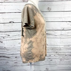 Bleached Tee Tops - Bleached Coffee T-Shirt